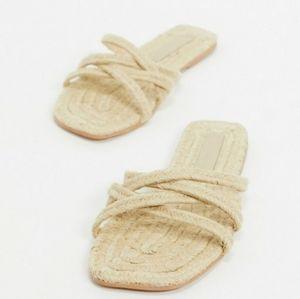 ASOS Wide Fit Espadrille Flat Sandals